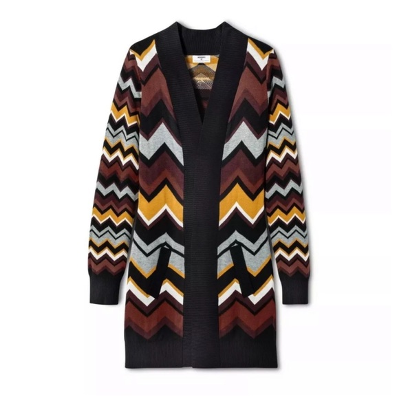 Missoni for Target Sweaters - NWT MISSONI Target Zig Zag Patchwork Open Cardigan